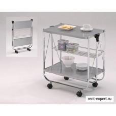 Складной сервировочный столик (серый/хром)