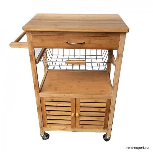 Передвижной столик из бамбука