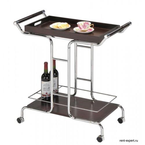 Столик сервировочный со съемным подносом на колесиках