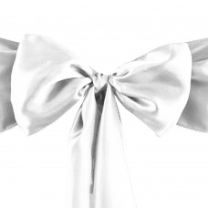 Бант (подвязка) для коктельного стола, цвет белый и другие цвета отшиваются под корпоративные цвета заказчика.