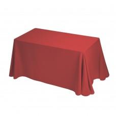 Скатерть банкетная, фуршетная без серединного шва 2,5х1,5м, цв. красный