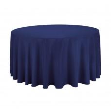 Скатерть банкетная/наперон, d200см, цвет синий, хлопок 100%, Турция.
