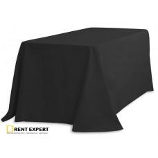 Скатерть банкетная без серединного шва, 2,5х1,5м, цвет черный, полиэстер 100%, Ю.Корея