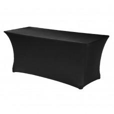 Стрейч чехол на банкетный стол 180/75 черный