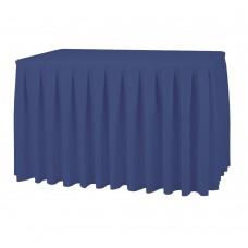 Юбка банкетная матово-синяя, 570х73см.