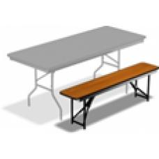 Лавочка (скамейка) складная 120см., ЛДСП, орех, металлический каркас чёрного цвета В НАЛИЧИИ