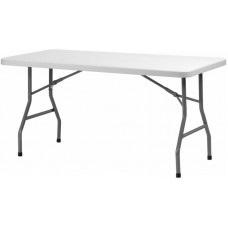 Прямоугольный 152x74 складной стол из металла и пластика