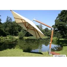 Зонт с боковой опорой квадратный Wind Range 3,5х3,5 метра BAMBOO