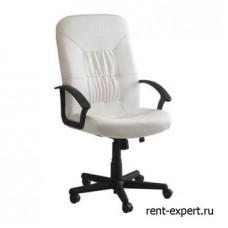Белый стул для офиса из искусственной кожи