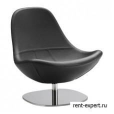 Вращающееся кресло из натуральной кожи