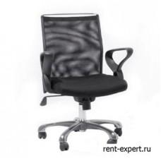 Черный стул для офиса с подлокотниками