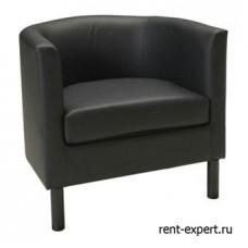 Полукруглое кресло из искусственной кожи