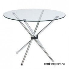 Стол круглый со стеклянной столешницей