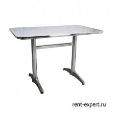 Стол с металлической столешницей