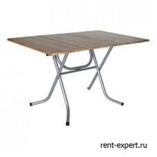 Складной стол с деревянной столешницей из сосны