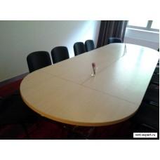 Столы офисные на рамных ножках (подстолье «трапеция»)