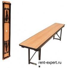 Лавочка-скамейка складная, цвет орех 150 и 180см