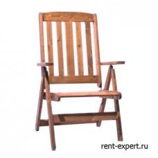 Деревянное уличное кресло