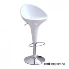 Барный стул выполнен из прочного ABS- пластика