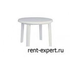 Стол пластиковый белый D-1.0м