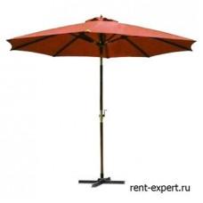 Уличный зонт с куполом красный