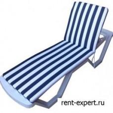 Матрас для шезлонга и лежака, бело-синие полосы
