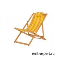 Шезлонг деревянный Veliero-I желтая полоска