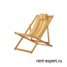 Шезлонг деревянный Veliero-I бежевая полоска