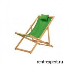 Шезлонг деревянный Veliero-II зеленый