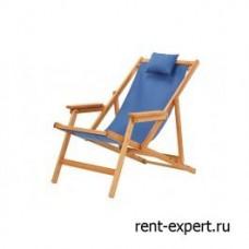 Шезлонг деревянный Veliero-II синий