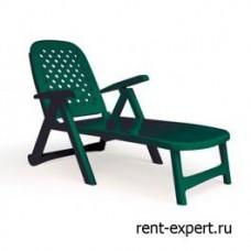 Шезлонг пластиковый Tressi зеленый