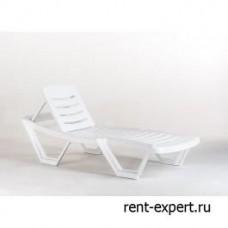 Шезлонг пластиковый Capissi-NEW (Капиши-Нью) белый